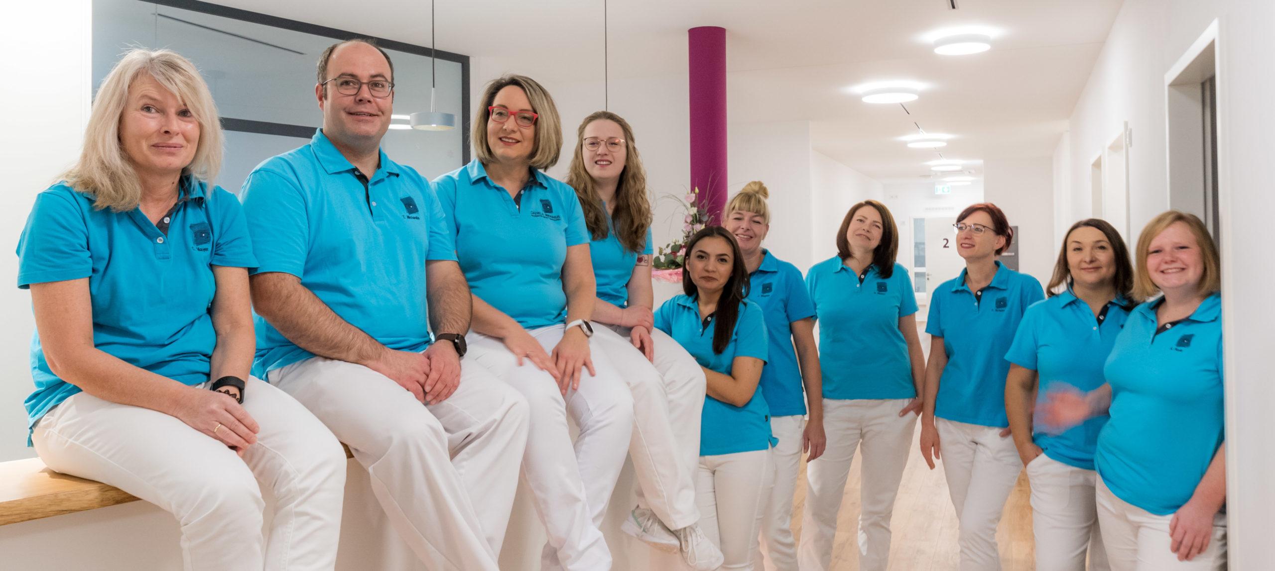 Das eingespielte Praxis-Team der Augenarzt-Praxis Daniela Michaelis, Radolfzell, stellt sich vor. Und setzt sich ein für die Augengesundheit der Patienten aus Singen-Konstanz-Schweiz.